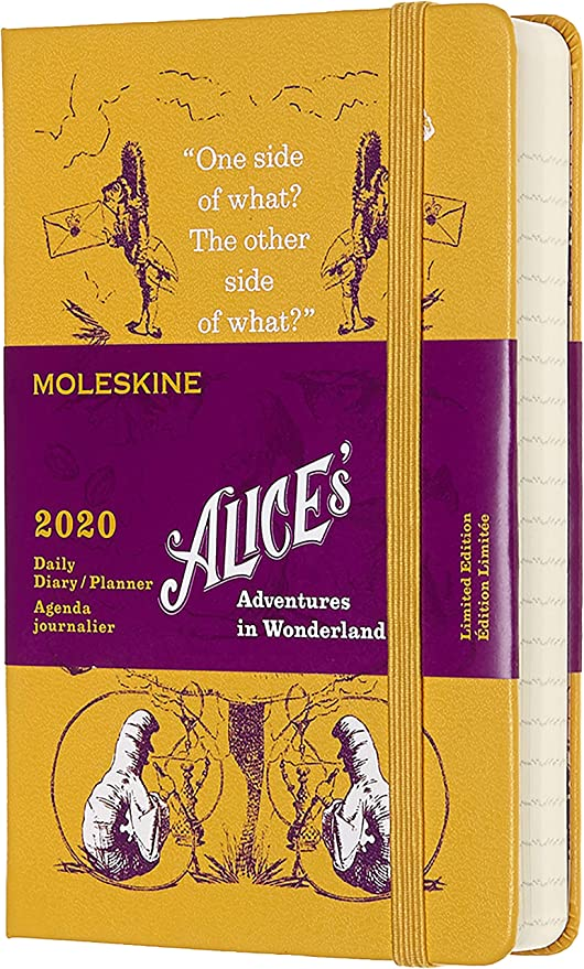 Moleskine Limited Edition Alice in Wonderland 12 Month 2020 Daily Planner, Hard Cover, Pocket (3.5