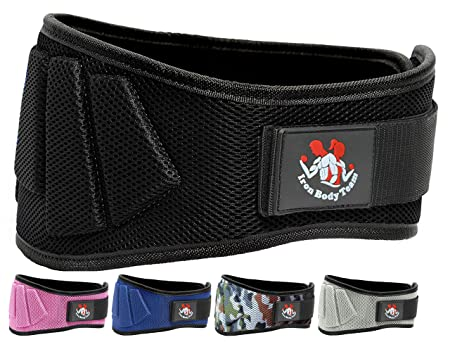 Fully Adjustable Weight lifting Belt 6 wide Thick Lower Back Core Support For Men Women Workout Belt Essential For Weightlifting, Powerlifting, Olympic Lifting, Crossfit, Deadlifts Squats