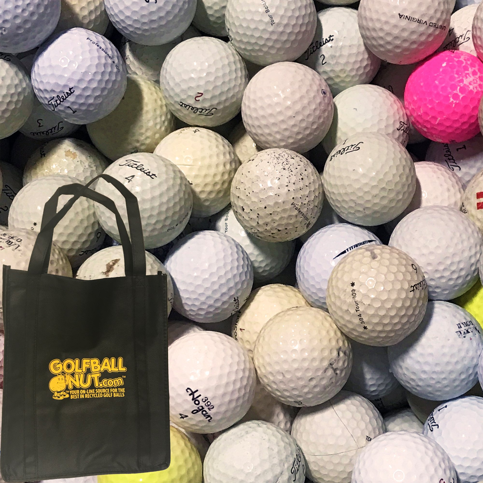 In the Mix 300 Hit-A-Way Golf Balls with Reusable Tote Bag