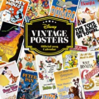 Disney Vintage Posters Official 2019 Calendar - Square Wall Calendar Format