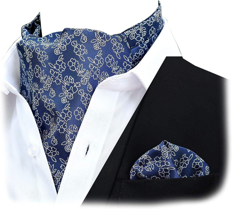 Felix & SiLK Hombre Niño jacquard Flores Set Ascot Cravat Corbatas ...