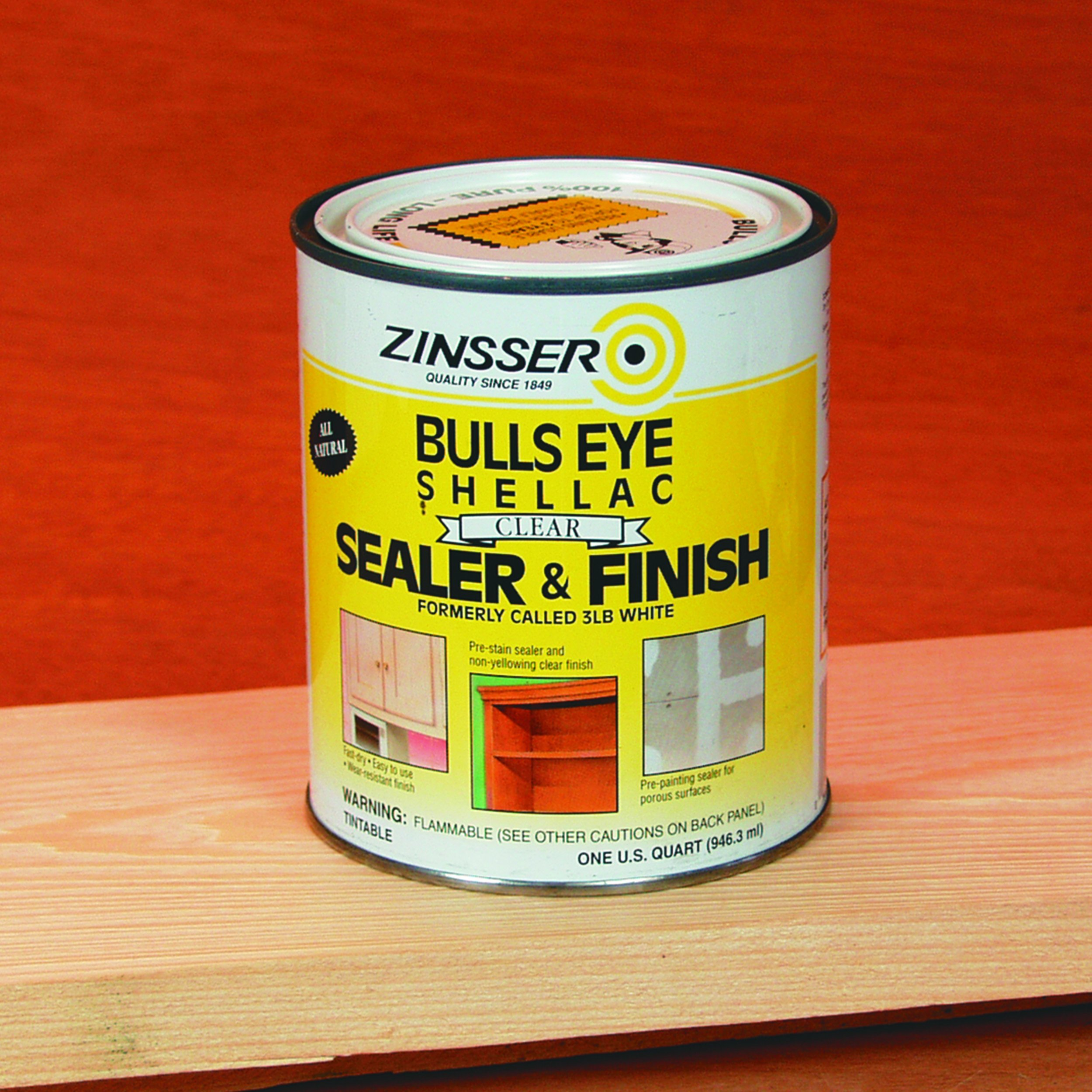 Rust-Oleum Zinsser 304H 1-Quart Bulls Eye Clear Shellac