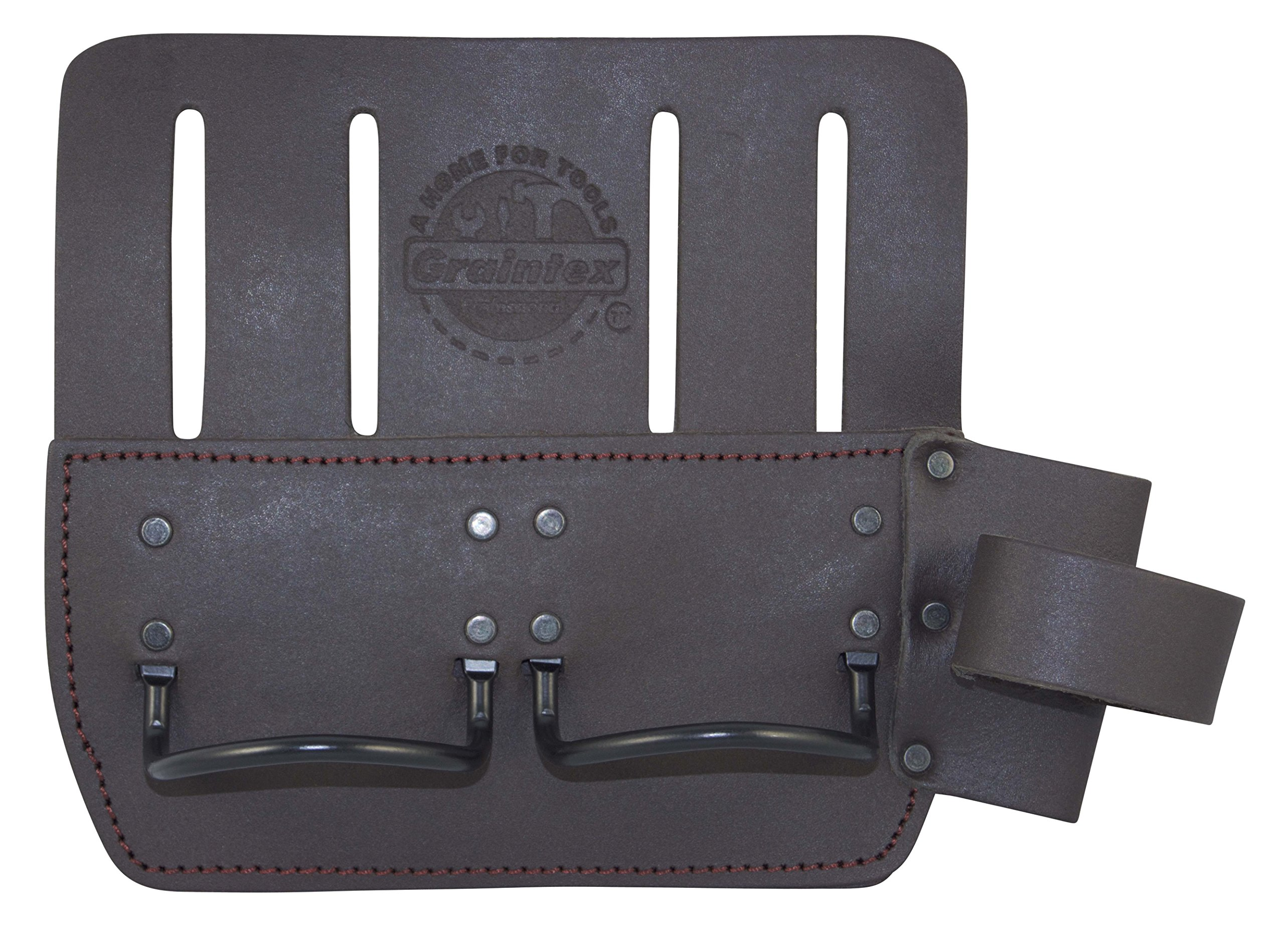 Graintex LH2449 Multi Tool Metal Hammer Holder Oil Tanned Leather
