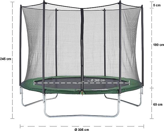 CZON SPORTS - Cama elástica infantil, 300 cm (verde): Amazon.es ...
