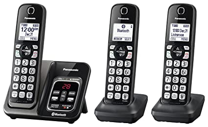 fd9901a43 PANASONIC Expandable Cordless Phone System with Link2Cell Bluetooth