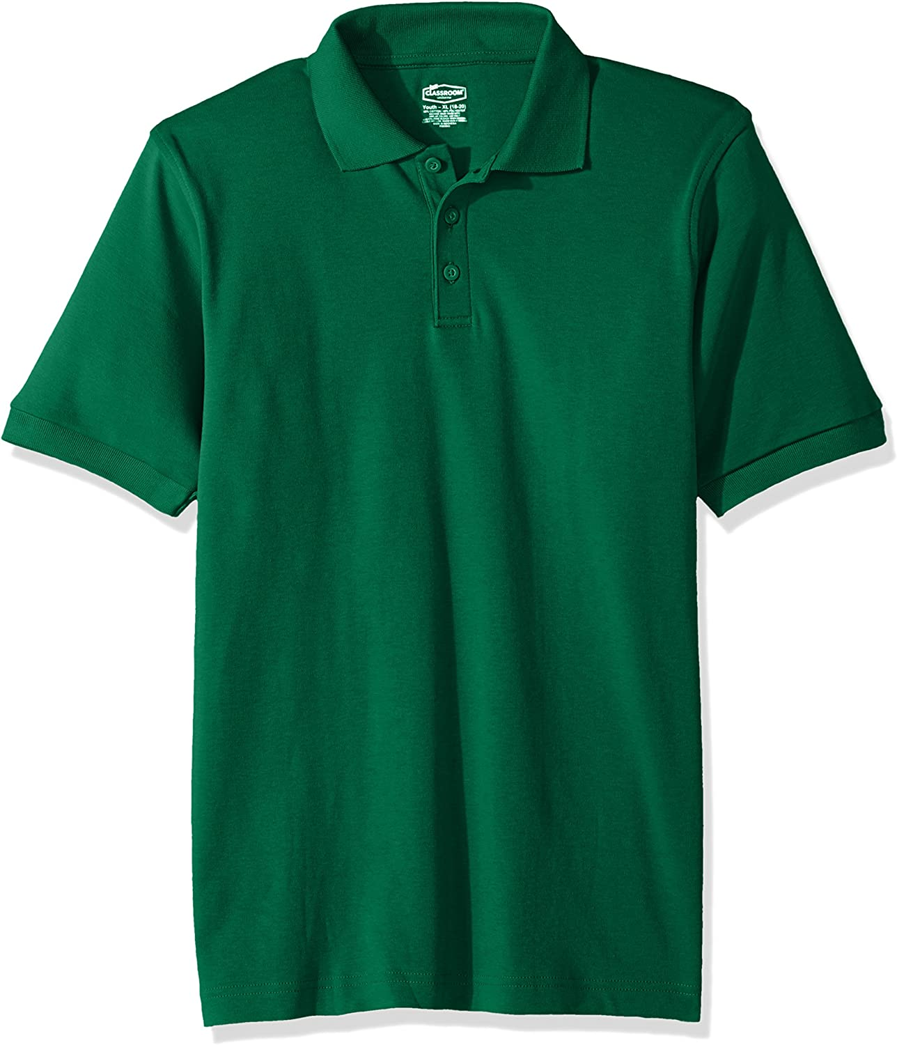 Classroom School Uniforms Kids Big Boys' Uniform Short Sleeve Interlock Polo
