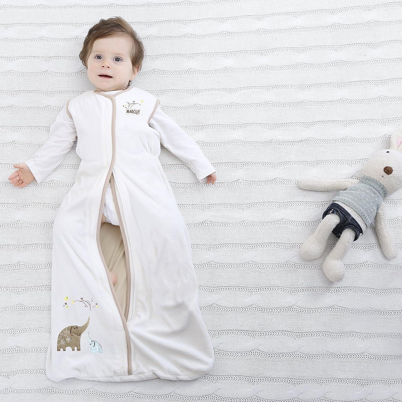Super Soft Medium Baby Sleep Bag 4 Season - 100% Cotton Wearable Blanket for 6-18M - Machine Washable Marquebaby