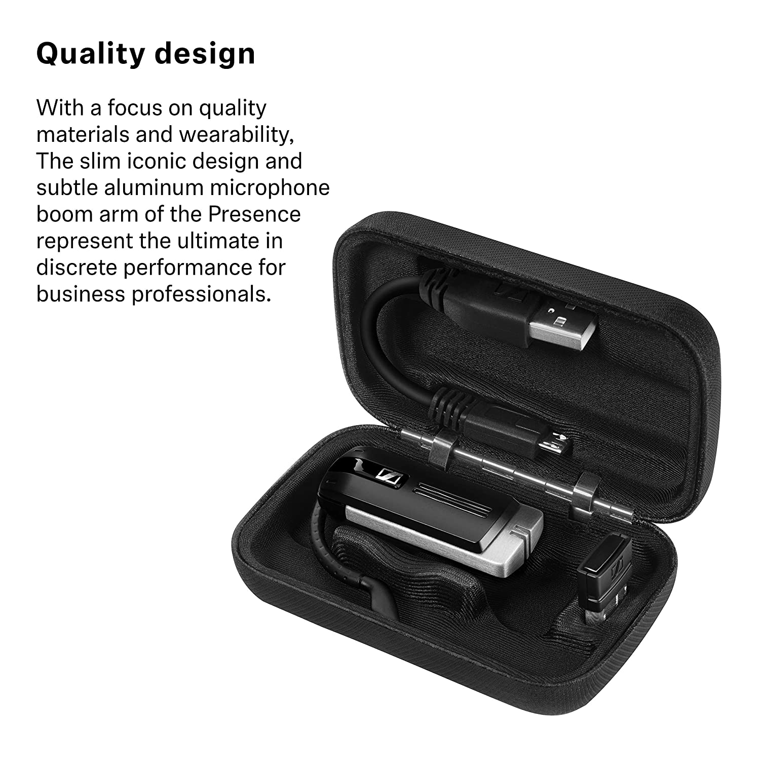Sennheiser Presence Business - Dual Connectivity 506066 Black Single-Sided Bluetooth Headset for Mobile Device Connection