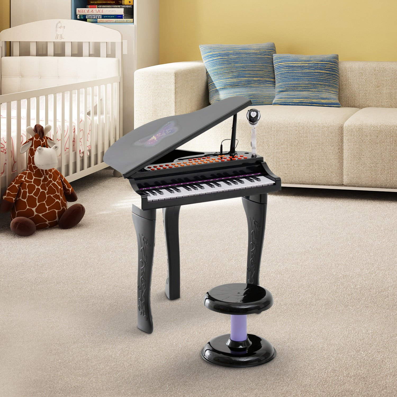 Amazon Qaba 37 Key Kids Toy Baby Grand Digital Piano with