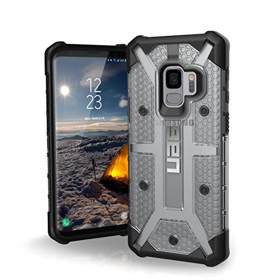 los angeles 664f3 fca2a URBAN ARMOR GEAR UAG Designed for Samsung Galaxy S9 [5.8-inch Screen]  Plasma Feather-Light Rugged [Ice] Military Drop Tested Phone Case