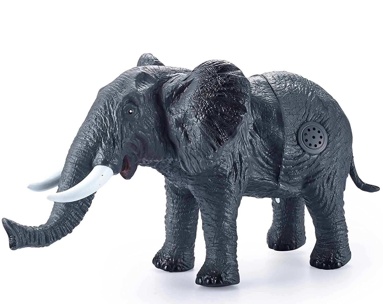 JaxoJoy 12 inch Giant Elephant  Ultra Realistic Detailed Design  Premium Squeezable Child Safe Plastic  Ideal Party Gift  For Children Aged 3 and Up Jaxojoy