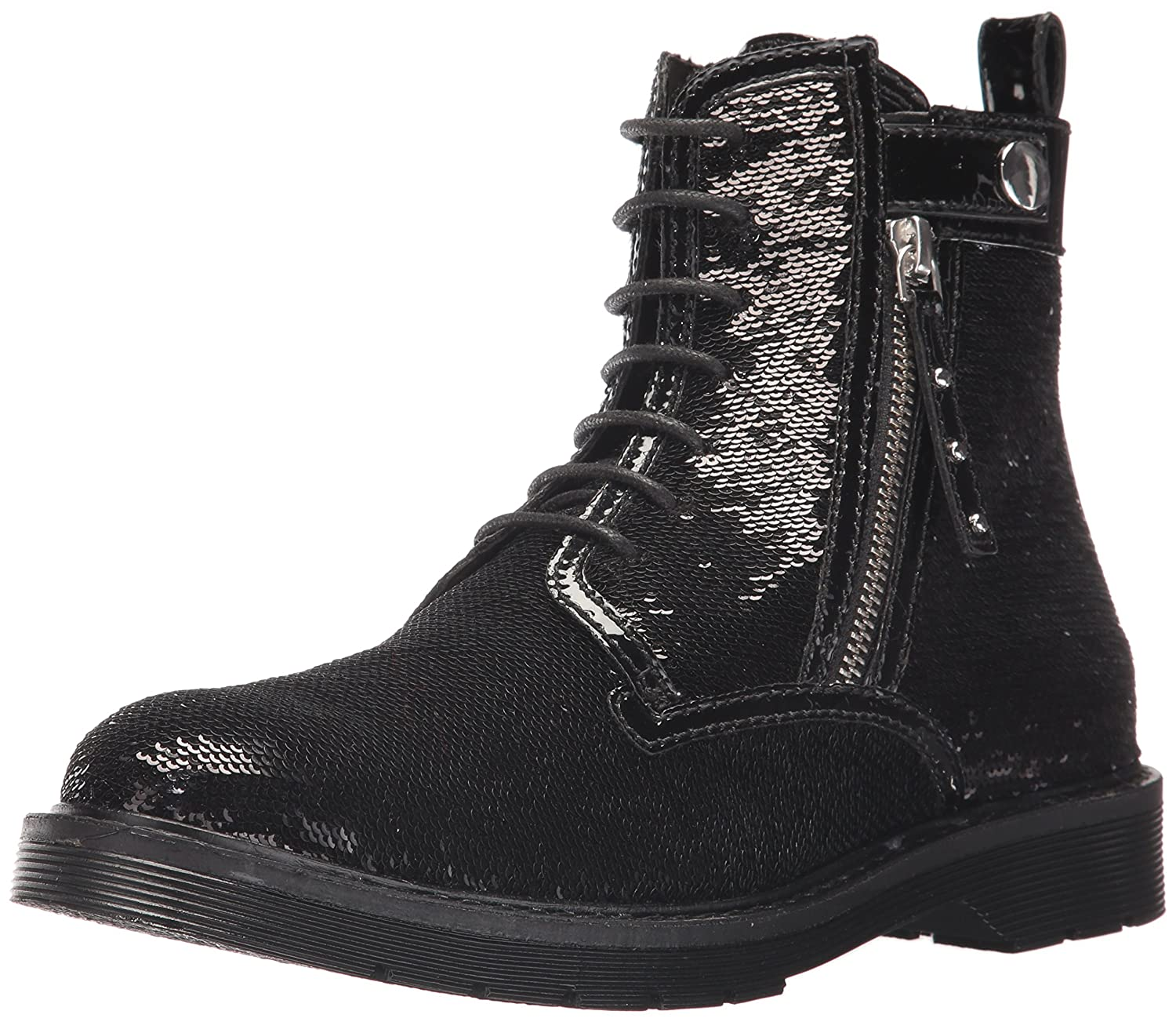 A|X Armani Exchange Women's Sequined Combat Boot B071J37RVF 8 B(M) US|Nero
