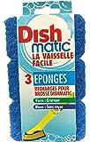 Recharges Eponges Grattante Anti-Rayure X3 Dishmatic (Vaisselle Facile)