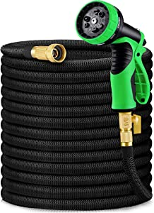 HBlife 75ft Garden Hose, All New 2021 Expandable Water Hose with 3/4