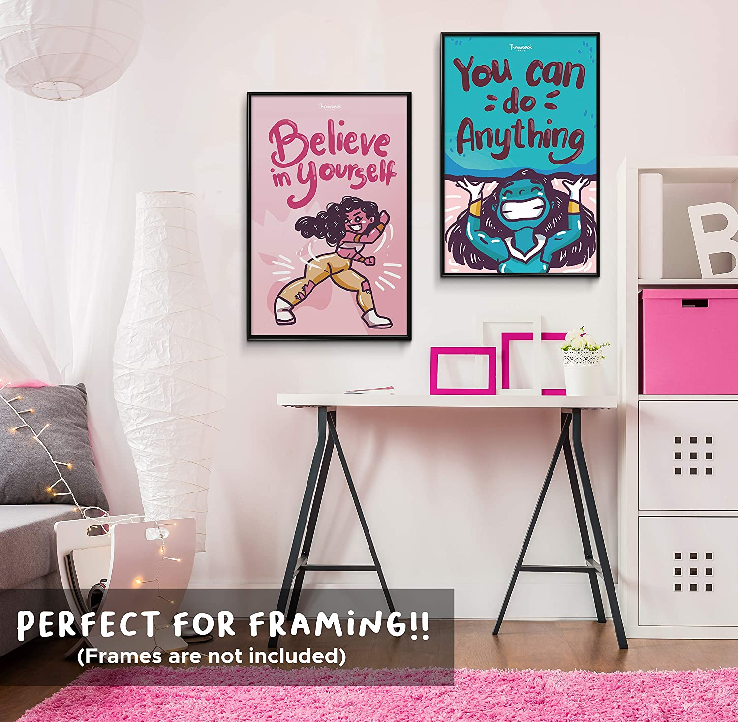 Kids Room Motivational Poster Girls Room Decor Gifts For Girls Or Teens Bedroom Decor Girl Wall