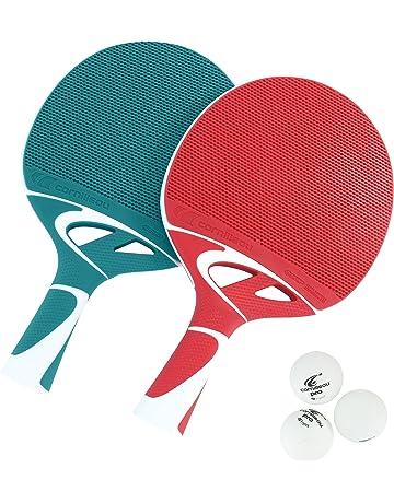 Cornilleau Tacteo Duo Set de 2 Raquetas y 3 Pelotas, Unisex Adulto, Verde/