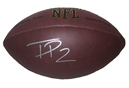1fd98e41d88 New York Jets Terrelle Pryor Autographed Hand Signed NFL Wilson Football  with Proof Photo, Cleveland