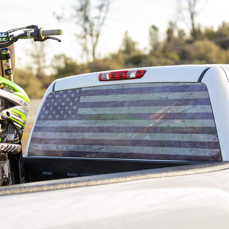 American Flag Truck Window Decal Sticker
