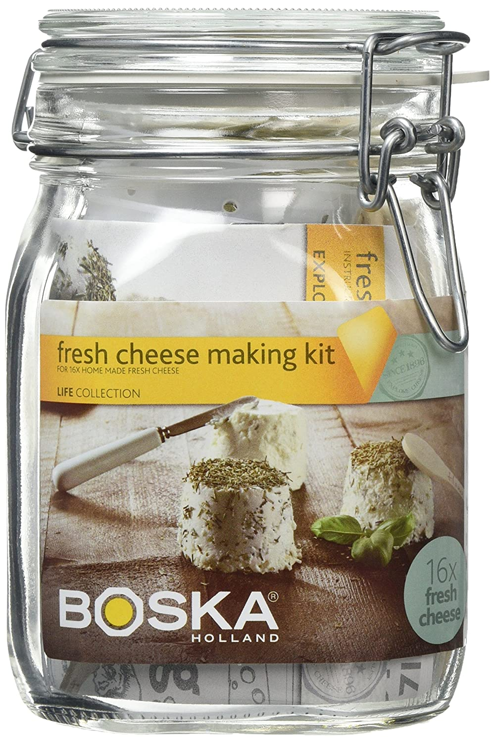 BOSKA Fresh Cheese Making Kit, White 320300