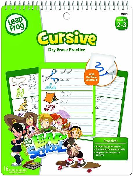 Amazon.com : LeapFrog LeapSchool Cursive Dry Erase Practice ...