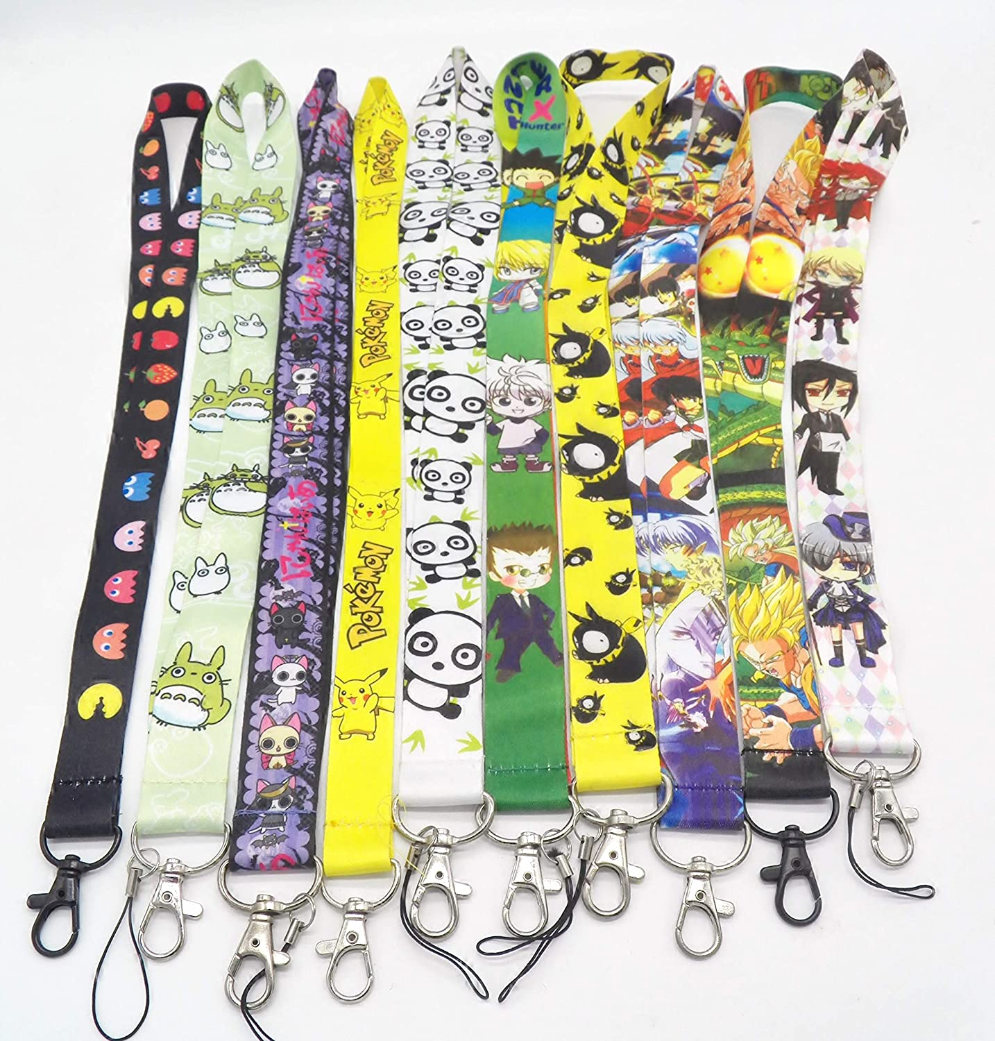 6 Assorted Anime Fullmetal Alchemist Black Butler Naruto Chain LANYARD Set #33