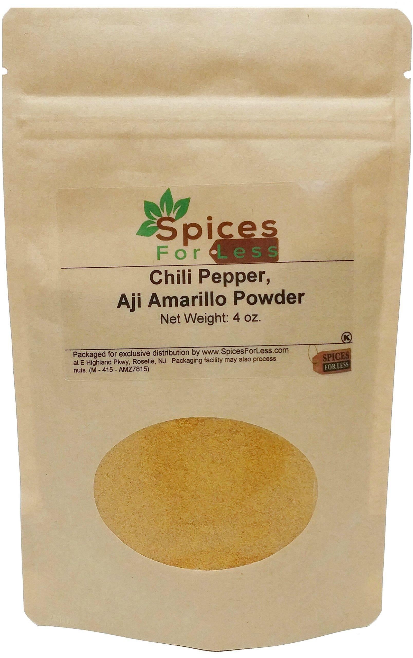 SFL Chili Pepper, Aji Amarillo Powder - 4 oz - Kosher Certified - Premium Quality