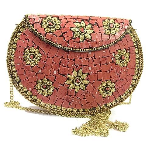 Bolso de mano hecho a mano del embrague de la cartera de las mujeres del embrague