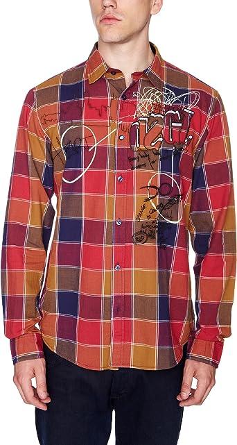 Desigual Dorada Camisa, Ethnic Mustard, XXXL para Hombre: Amazon.es: Ropa y accesorios