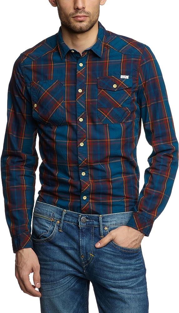BLEND - Camisa para Hombre, Talla 50, Color Azul (Legion Blue 140): Amazon.es: Ropa y accesorios