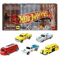 Hot Wheels 2020 Pop Culture: Vintage Oil 5 Premium All-Metal Castings Real Riders Wheels In Original Packaging In One…