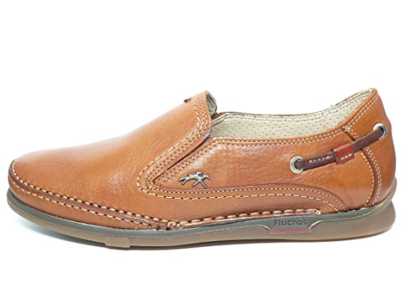 Zapato casual hombre FLUCHOS elasticos laterales en piel Cuero 7580 - 54n: Amazon.es: Zapatos y complementos