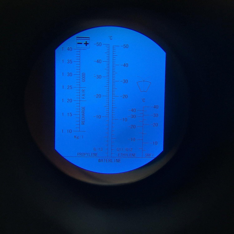 Refraktometer f/ür KFZ Frostschutz pr/üfer Batteries/äure Scheibenwasser 3001 mit KALIBRIERFL/ÜSSIGKEIT