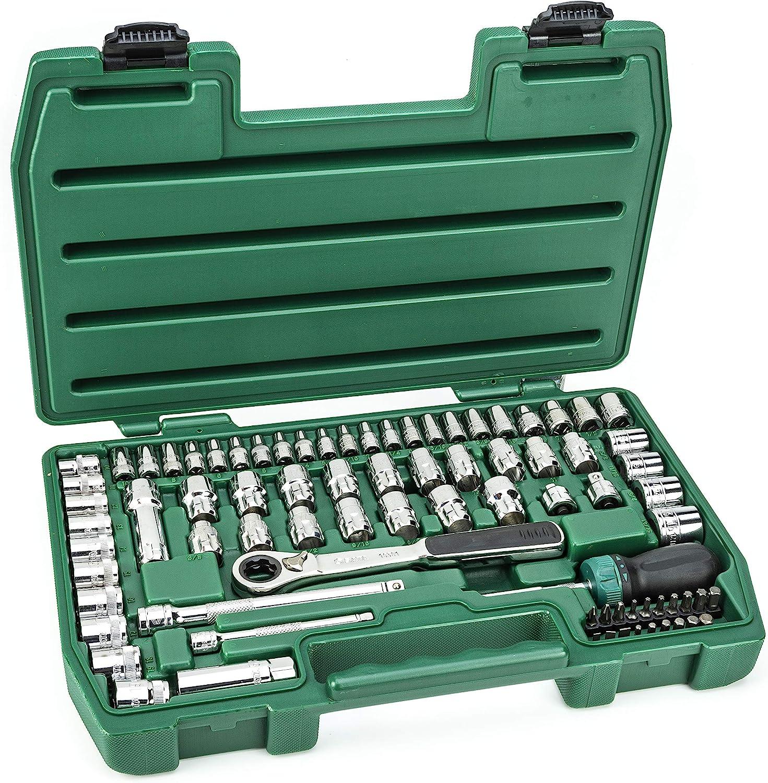 ST09135U-02 3//8-Inch Pass-Thru Vortex Socket Set SATA 80-Piece 1//4-Inch