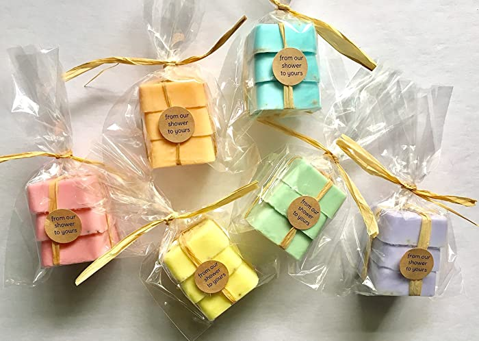 dozen soap favors for bridal shower baby shower or wedding favors