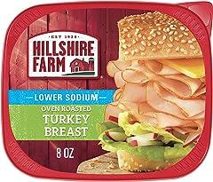 Hillshire Farm Ultra Thin Sliced Deli Lunch Meat, Lower Sodium Oven Roasted Turkey Breast, 8 oz