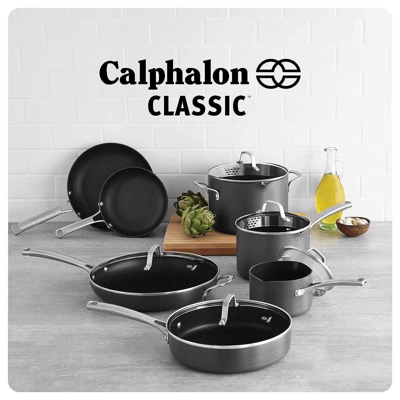 3e2d71a14e0 Amazon.com  Calphalon 1943337 Classic Cookware Set 12-pc Grey  Kitchen    Dining