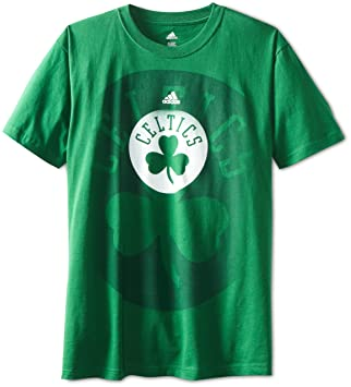 Adidas NBA Boston Celtics a Todo Color Logo Camiseta Verde, Hombre, Verde