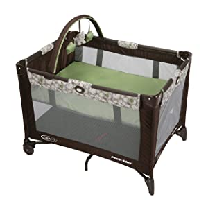 Graco Pack 'n Play On the Go Playard | Includes Full-Size Infant Bassinet, Push Button Compact Fold, Zuba