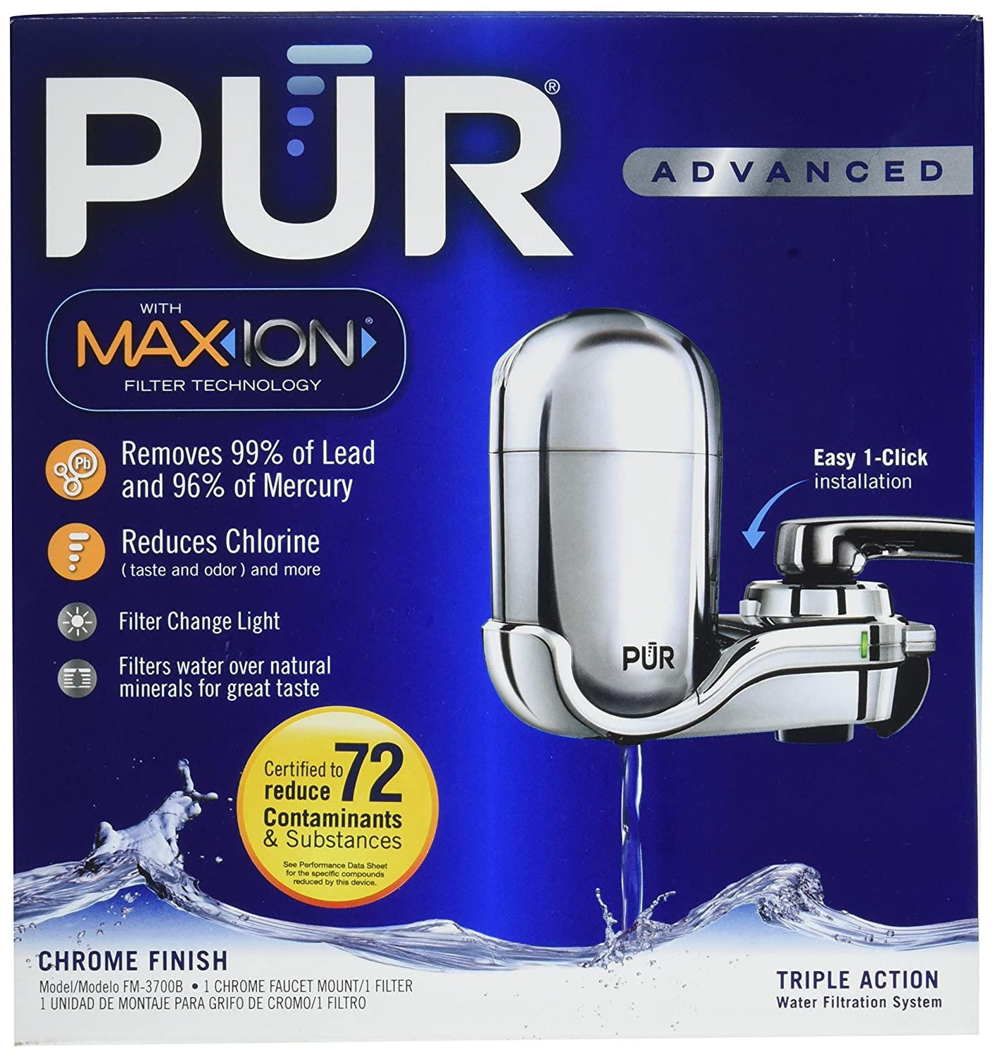 Amazon.com: Pur FM3700/00524 Pur 3 Stage Vertical Faucet Mount: Home ...
