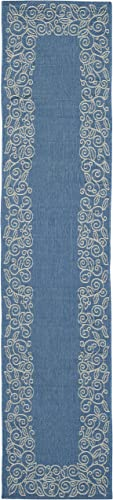 Safavieh Courtyard Collection CY5139C Blue and Beige Indoor Outdoor Area Rug 2 x 3 7