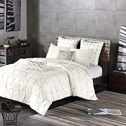 c30292f4f5 Ink+Ivy Masie King/Cal King Size Bed Comforter Set - White , Elastic