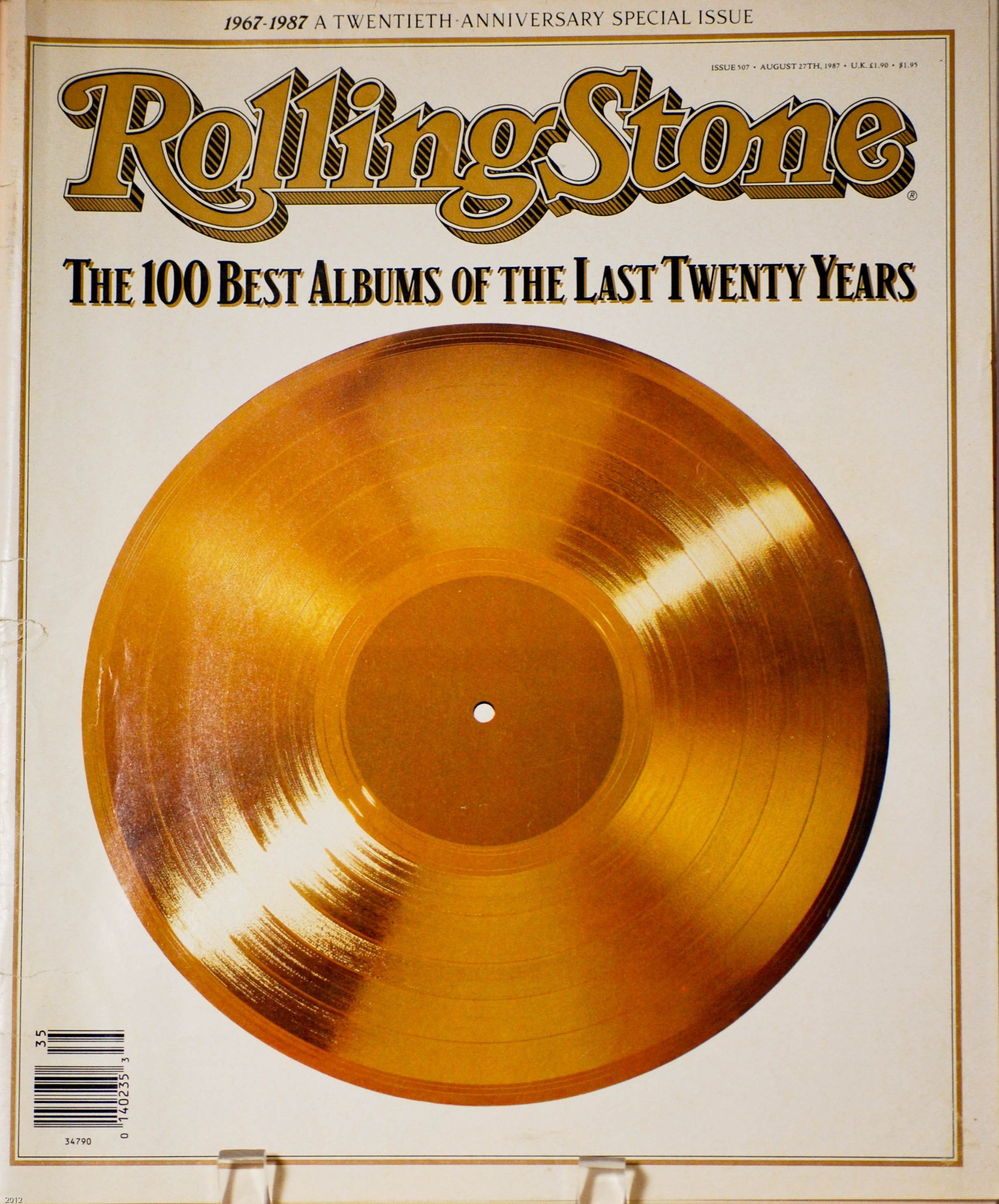 rolling stone magazine 507 august 1987 twentieth anniversary special issue the 100 best albums of the last twenty years