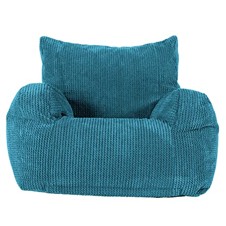 Lounge Pug®, Puff Sillón, Pompón - Egeo Azul: Amazon.es: Hogar