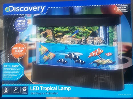 Discovery Kids Animated Tropical Fish Marine Aquarium Lamp With Auto Shut  Off