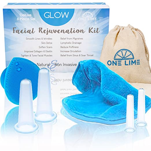 Professional Anti Aging Face Massage Silicone Cupping Set