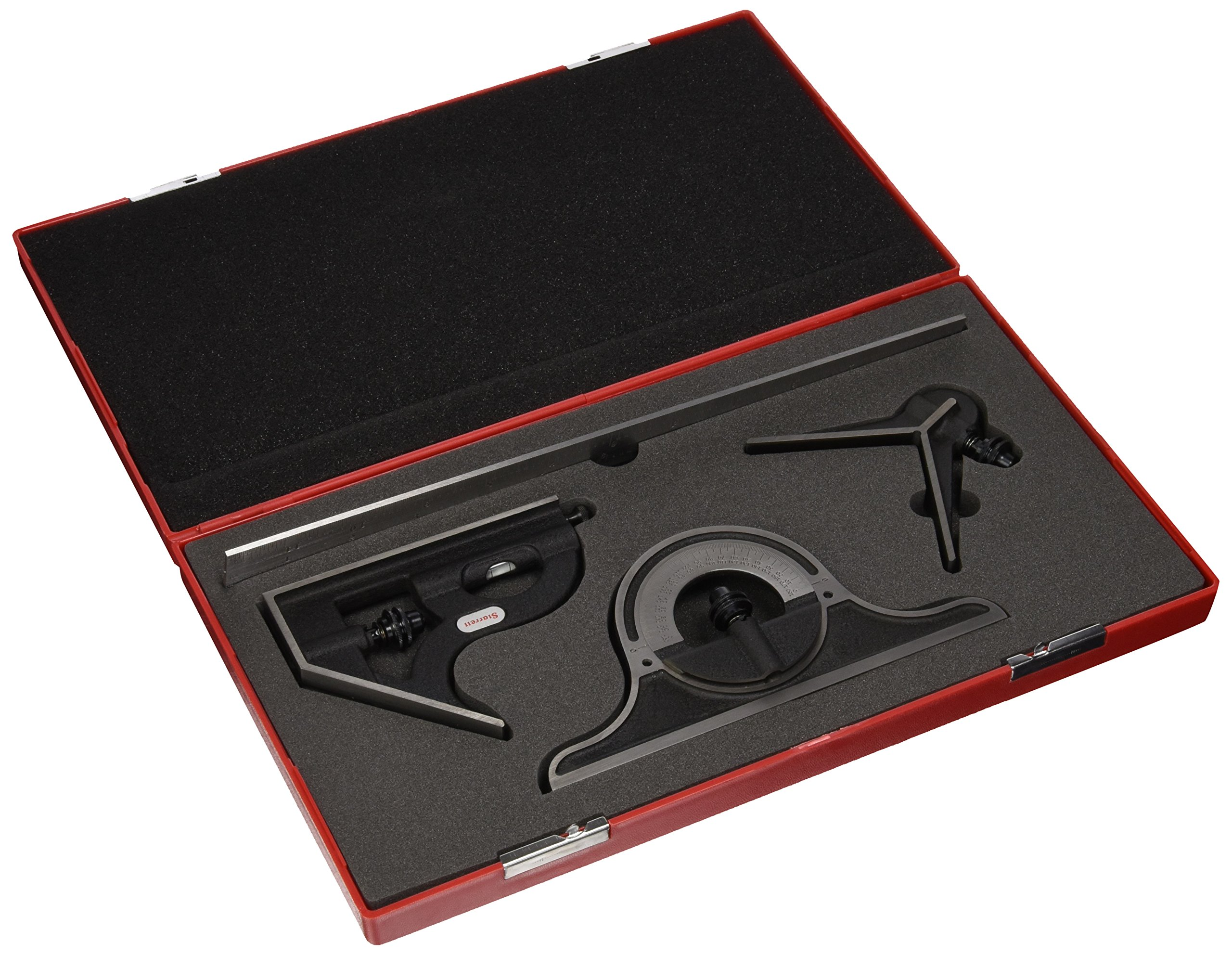 Starrett 9-12-4R 12-Inch Quick Read Combination Square Set with Cast Iron Head by Starrett
