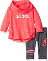 adidas Baby Girls' Neon Melange Hooded Set