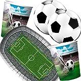 Folat/Carpeta 37-teiliges Partyset * Fussball Stadion * mit Teller + Becher + Servietten + Deko // Geburtstag Set Partygeschirr Deko Party Mottoparty Motto Fußball Soccer