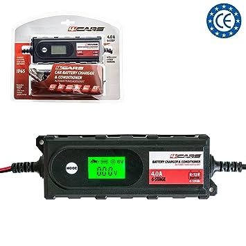 Batería Cargador de coche 12 V; 4,2 A; cargador totalmente ...