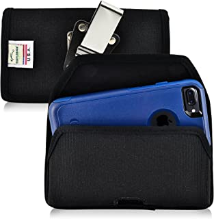 product image for Turtleback Belt Clip Case Compatible with Apple iPhone 8 & iPhone 7 w/OB Commuter case Black Holster Nylon Pouch with Heavy Duty Rotating Belt Clip Horizontal Made in USA